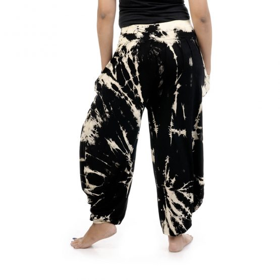Tie & dye, Harem pants with elastic waistband and 2 pockets