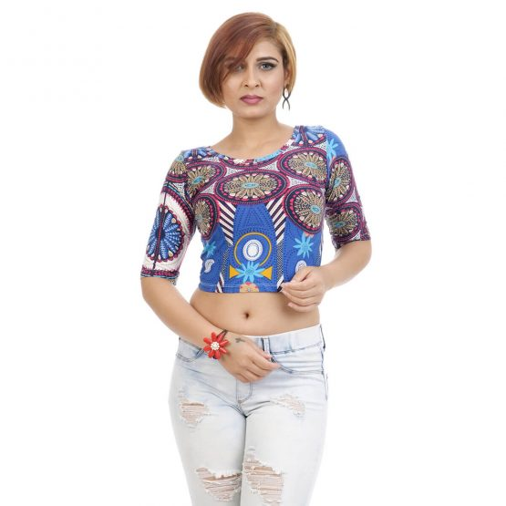 Ankara-print crop top