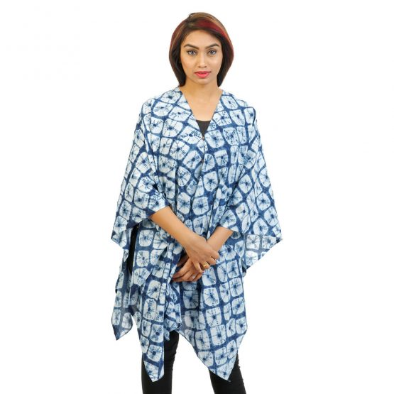 Indigo Tie & Dye 4 Way Wearable Poncho