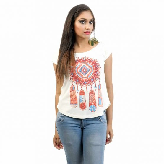 Women's Dream Catcher with Extended Sleeve T-shirt