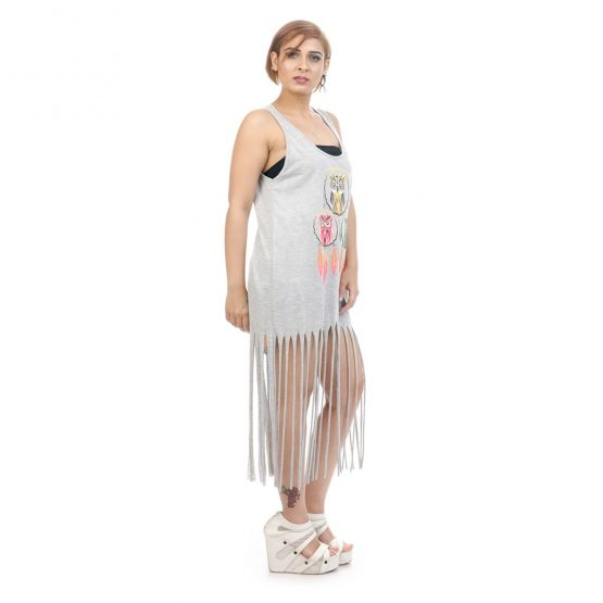 Purchase Dream catcher with owl print tassel dress from Funky Fusion at best prices