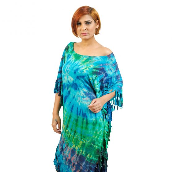Terrific Turquoise color Poncho dress from FunkyFusion