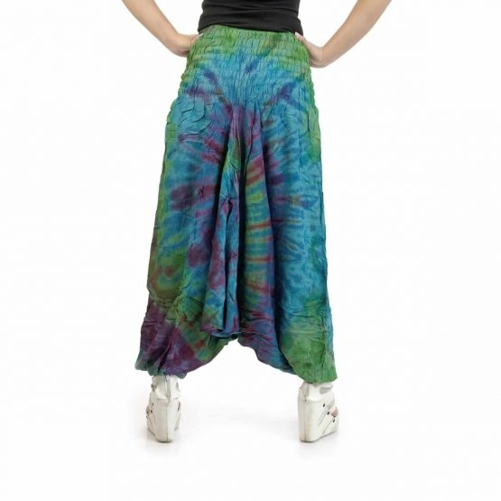 Peacock color stylish, printed Afghan trouser/jumpsuits for womenat Funky Fusion